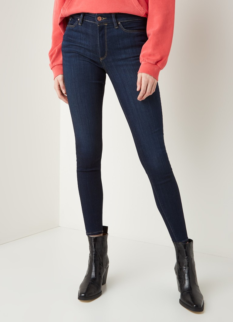 ALLSAINTS - Miller mid waist skinny fit jeans met donkere wassing - Indigo