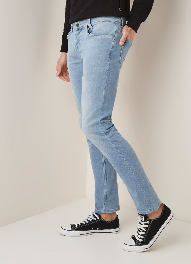 America Today - Casper mid rise slim fit jeans met faded look - Indigo