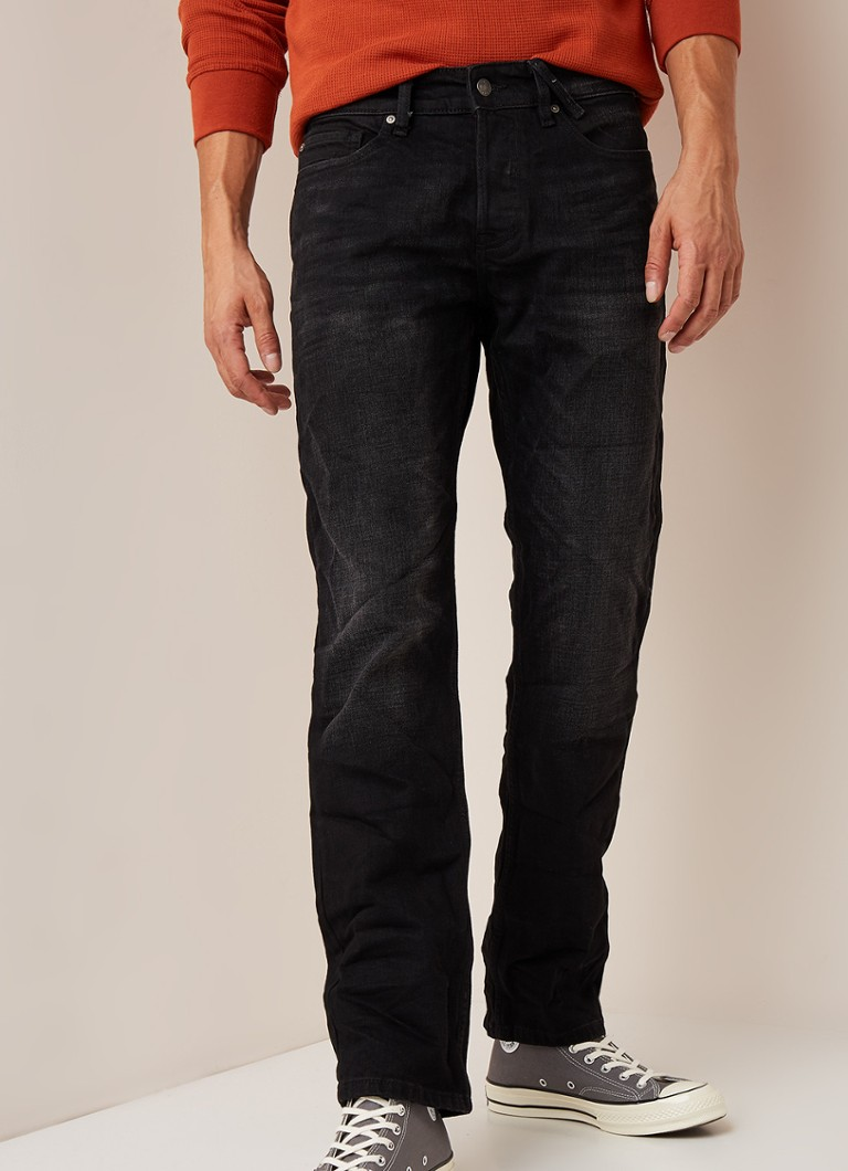 America Today - Dean straight fit jeans met stretch  - Zwart