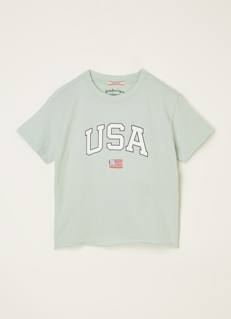 America Today - Elly USA Jr T-shirt met frontprint - Mint