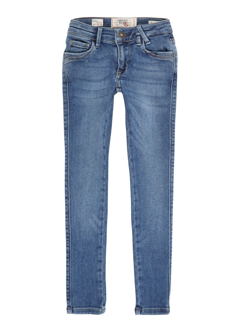 America Today - Kate super slim fit jeans met medium wassing - Indigo