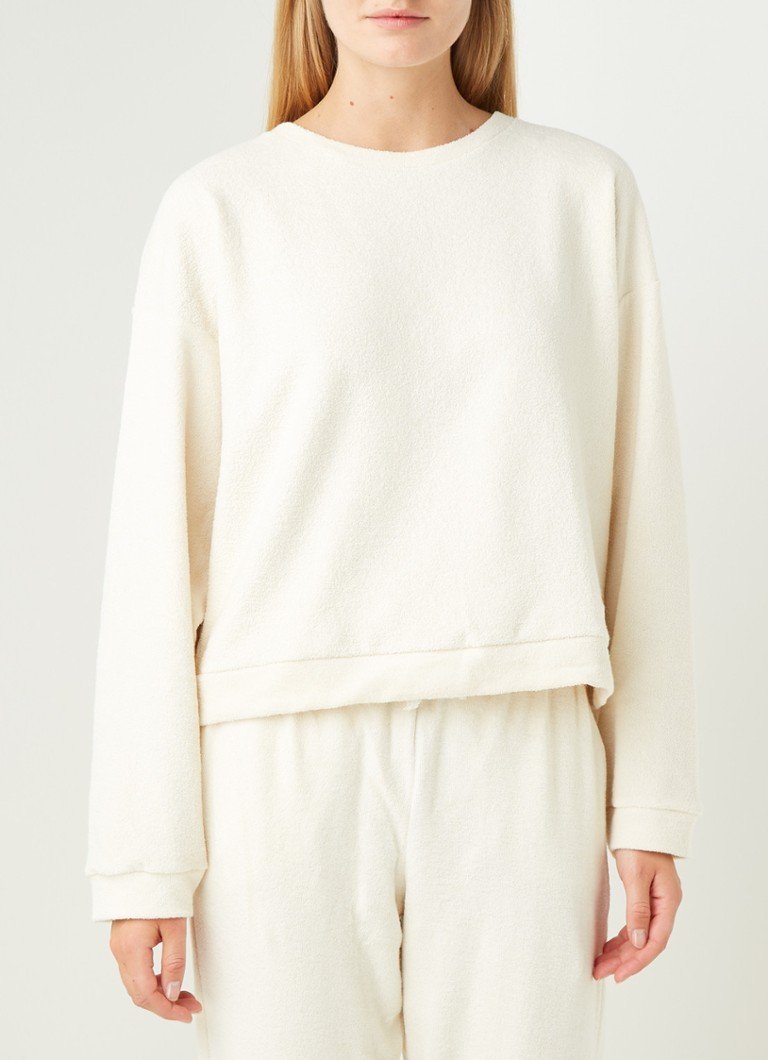 America Today - Mia lounge sweater van badstof - Creme