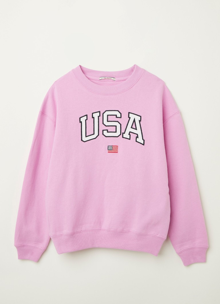 America Today - Scarlett sweater met borduring - Roze