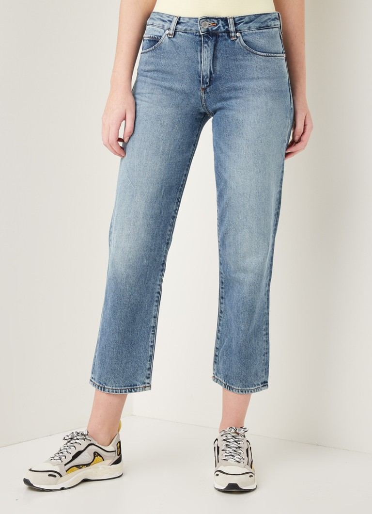 ARMEDANGELS - Fjellaa high waist straight fit cropped jeans - Indigo