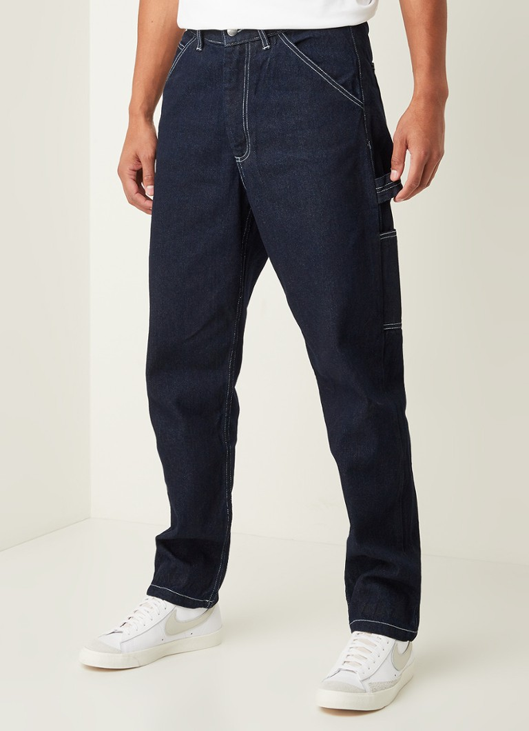 Arte Antwerp - Joe tapered fit jeans met logoprint - Indigo