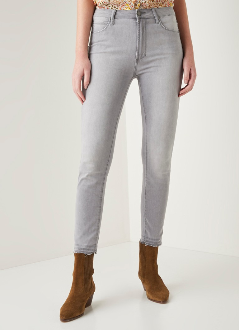 Articles of Society - Heather high waist cropped skinny fit jeans - Grijs