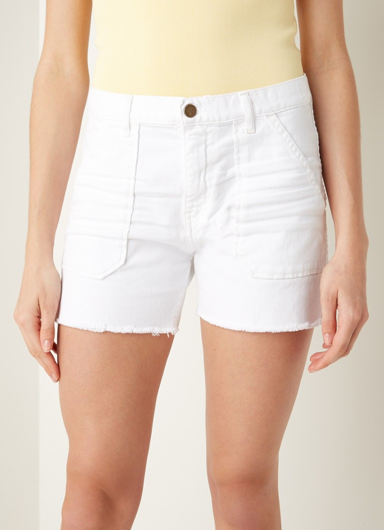 ba&sh - Cselby mid waist shorts van denim - Wit