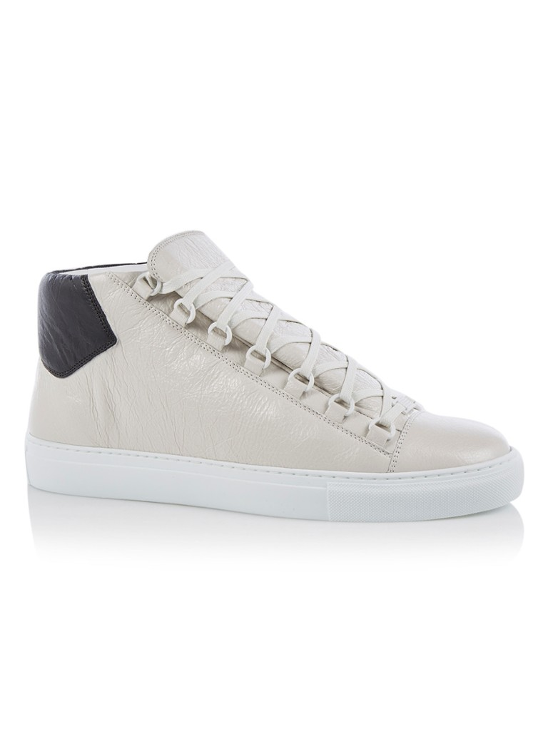 189a2472488 Balenciaga Arena hoge sneaker van lamsleer met glanzende finish • de ...