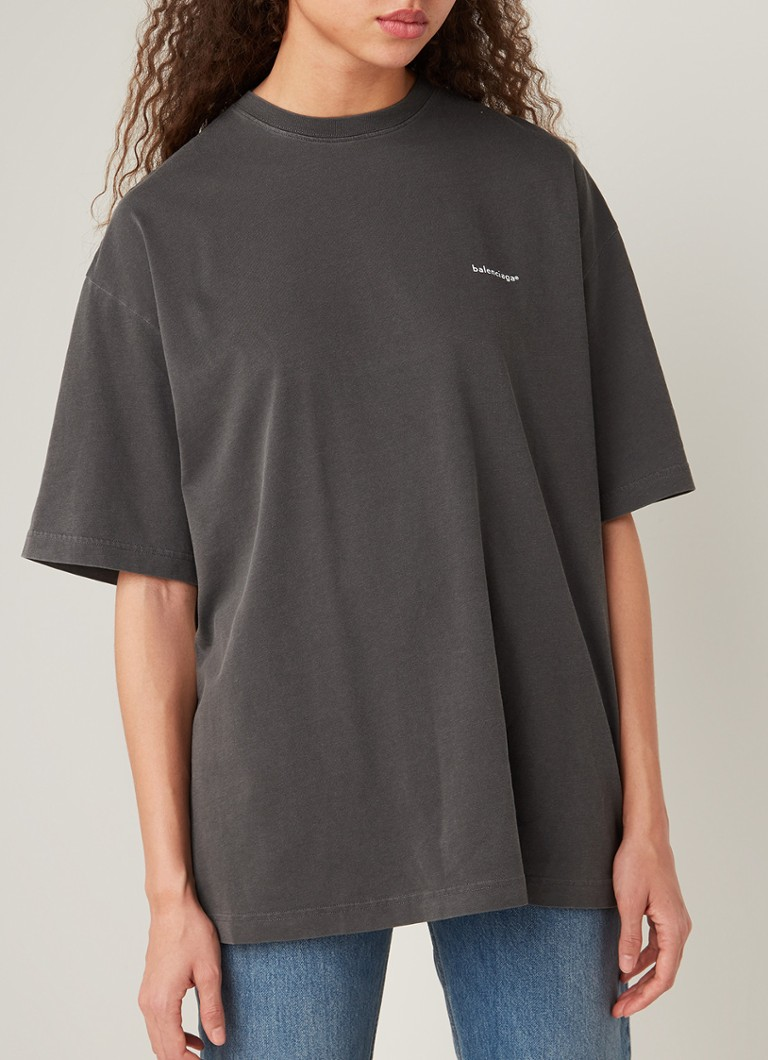 Balenciaga - Copyright oversized T-shirt met logoprint - Antraciet