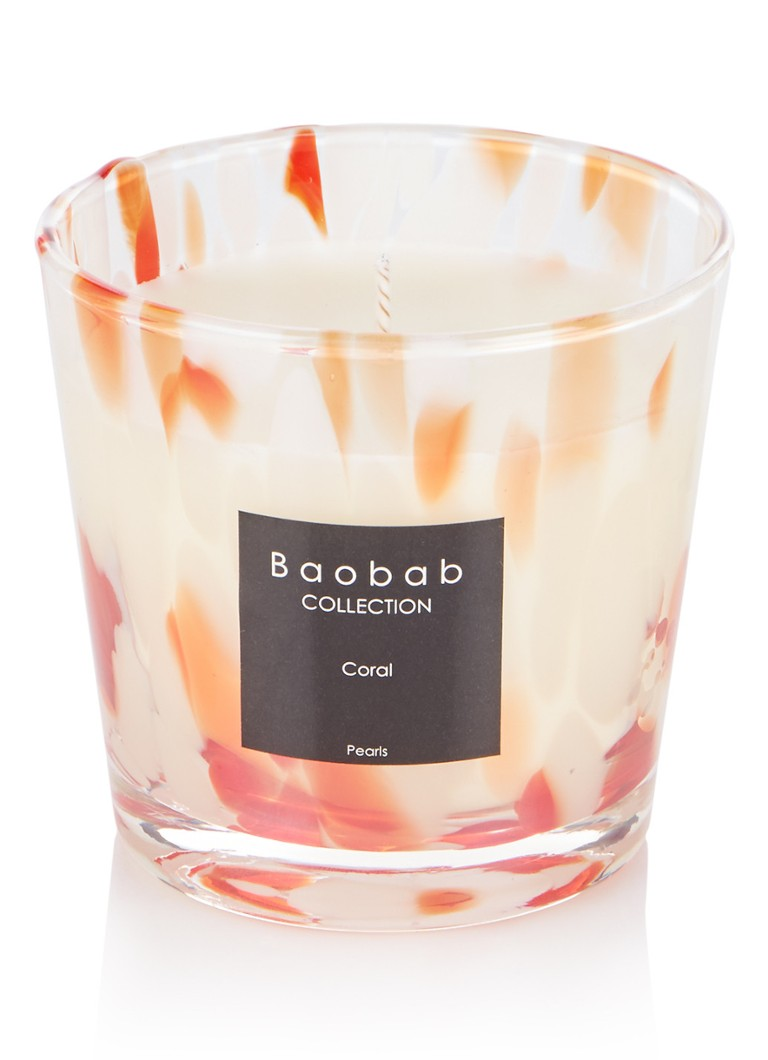 Baobab Collection - Coral Pearls geurkaars - Koraalroze