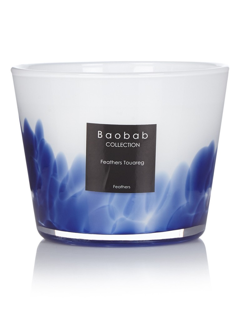 Baobab Collection - Feathers Touareg geurkaars - Blauw