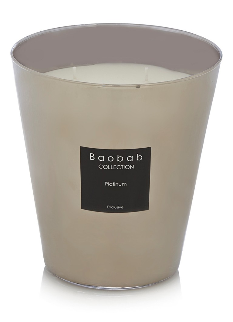 Baobab Collection - Platinum Exclusive geurkaars - Zilver