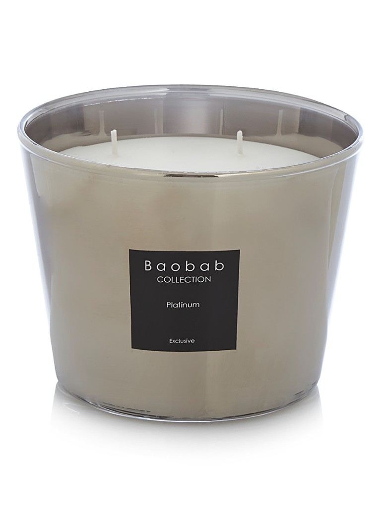 Baobab Collection - Platinum Exclusive geurkaars - Parelmoer