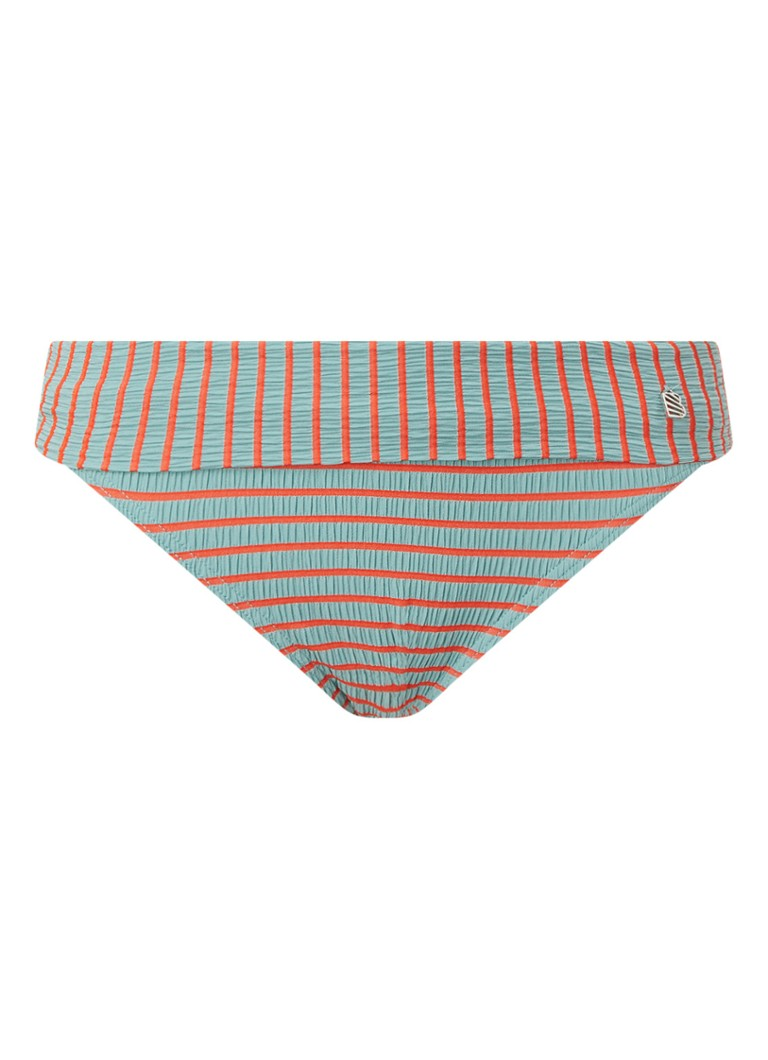 Beachlife - Sunset bikinislip met streepprint - Zeegroen