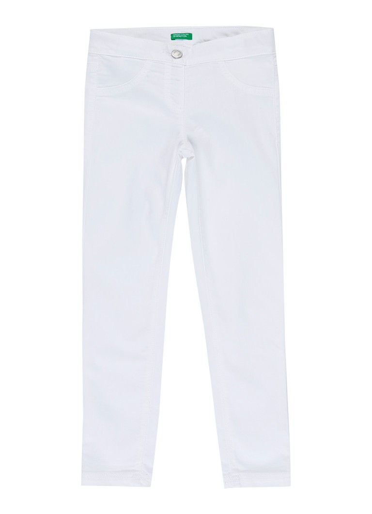 Benetton - Skinny fit jeans met stretch - Wit