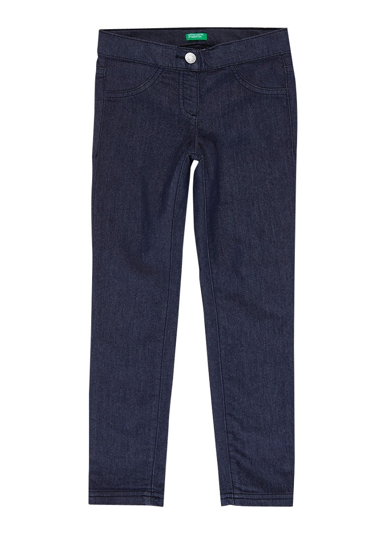 Benetton - Skinny fit jeans met stretch - Donkerblauw