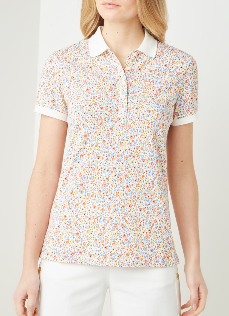Benetton - Slim fit polo met print - Multicolor