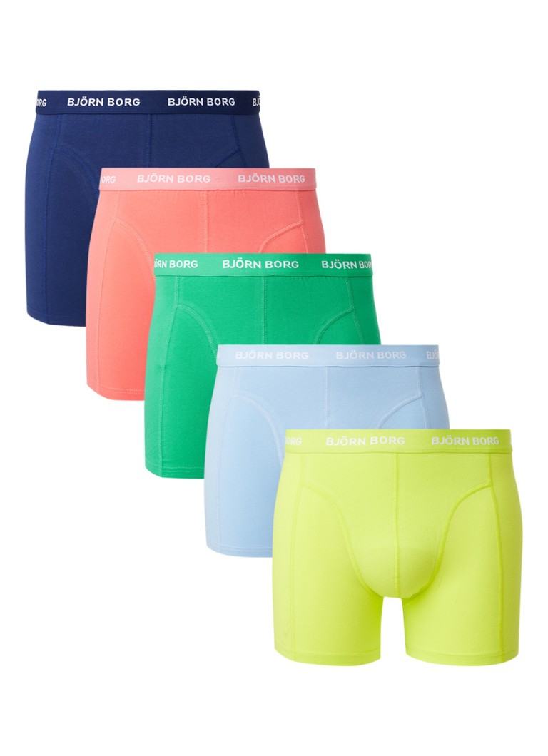 Björn Borg - Sammy Seasonal boxershorts in 5-pack - Multicolor