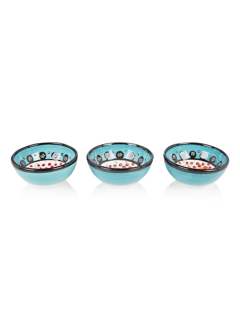 Bowls and Dishes - Nimet dipschaal 7 cm set van 3 - Turquoise