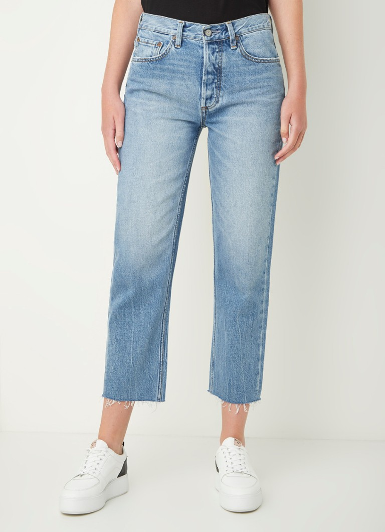 BOYISH - Tommy high waist straight fit jeans met medium wassing - Indigo