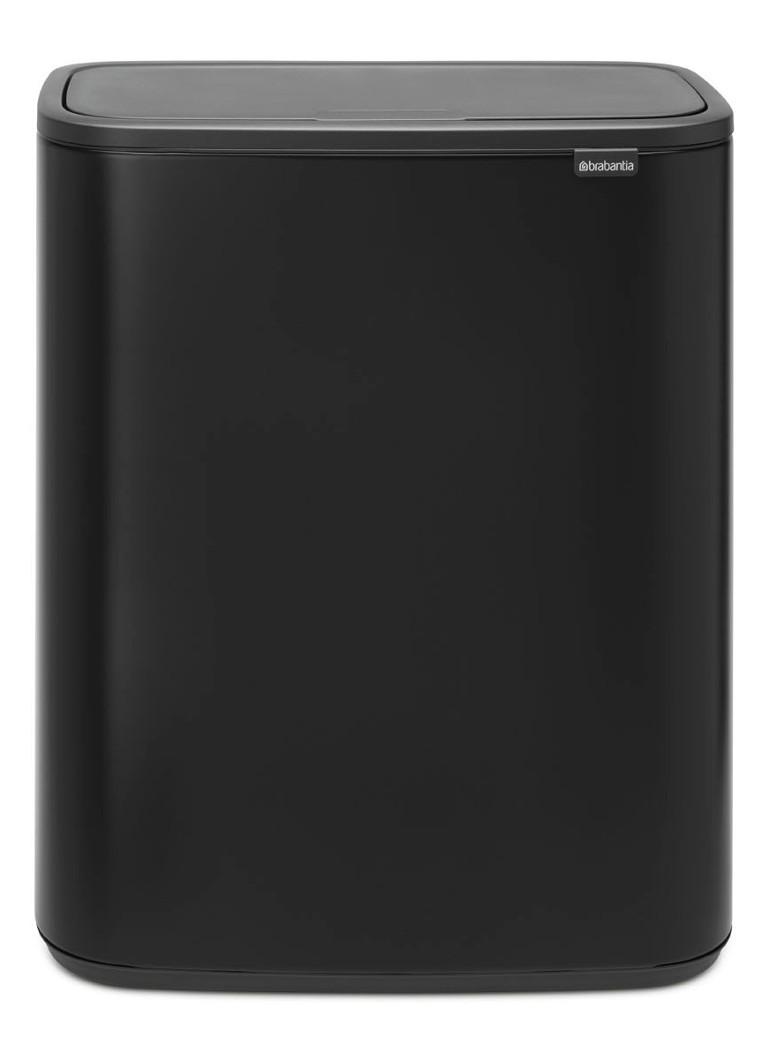 Brabantia Touch Bin Zwart 30 Liter.Brabantia Bo Touch Bin Recycle Duo Afvalemmer 2 X 30 Liter De Bijenkorf