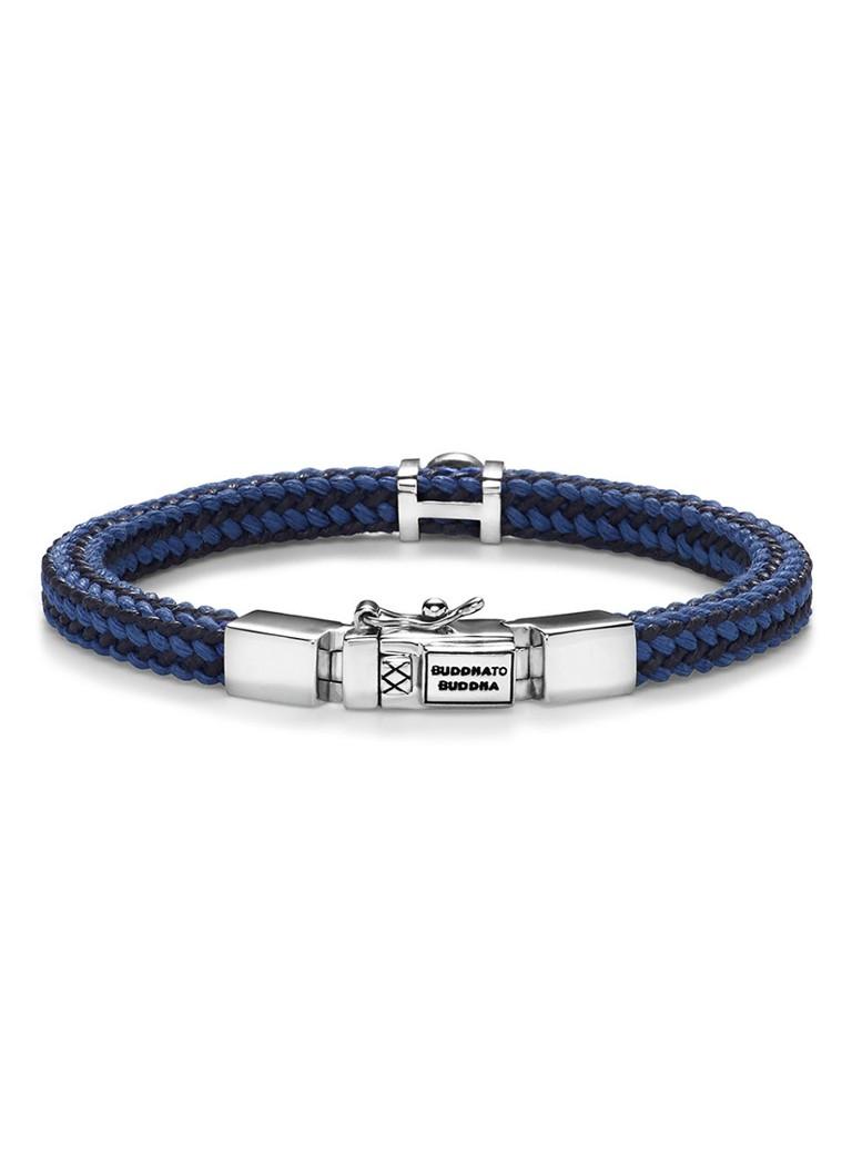 Buddha To Buddha Armband Blauw.Buddha To Buddha Armband Denise Met Kliksluiting Van Zilver De Bijenkorf
