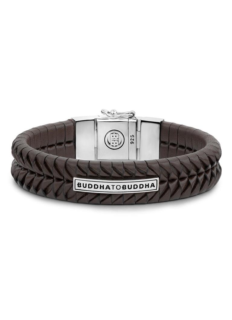 Buddha To Buddha Armband Leer.Buddha To Buddha Armband Komang Van Zilver En Leer De Bijenkorf