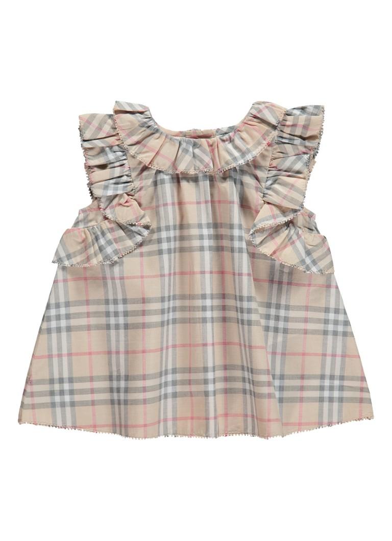 71bc613a7a0 BURBERRY Carla set van jurk en luierbroek met ruitdessin • de Bijenkorf