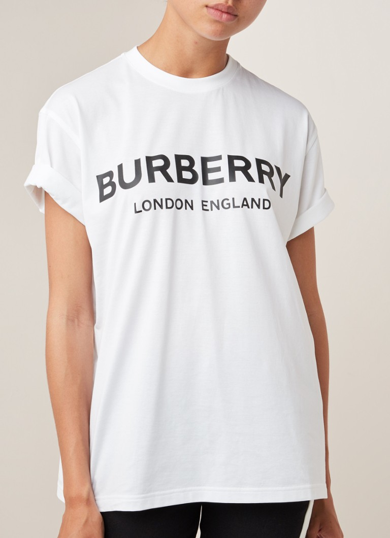 BURBERRY - Carrick T-shirt met logoprint - Wit