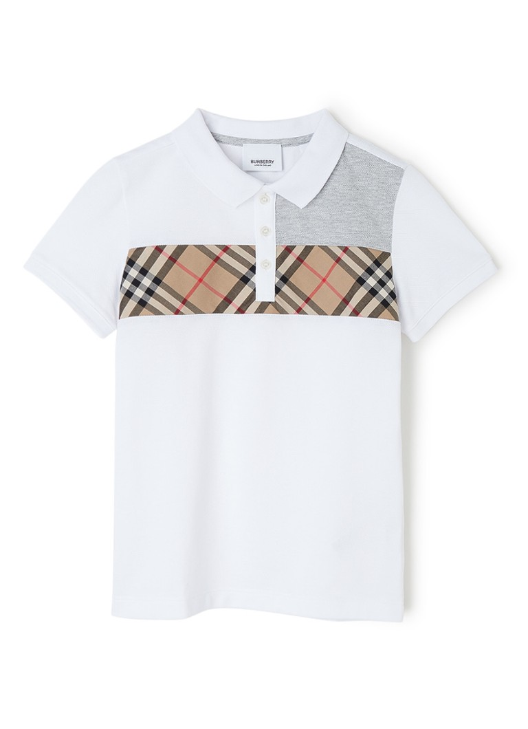 BURBERRY - Jeff polo met logodetail - Wit