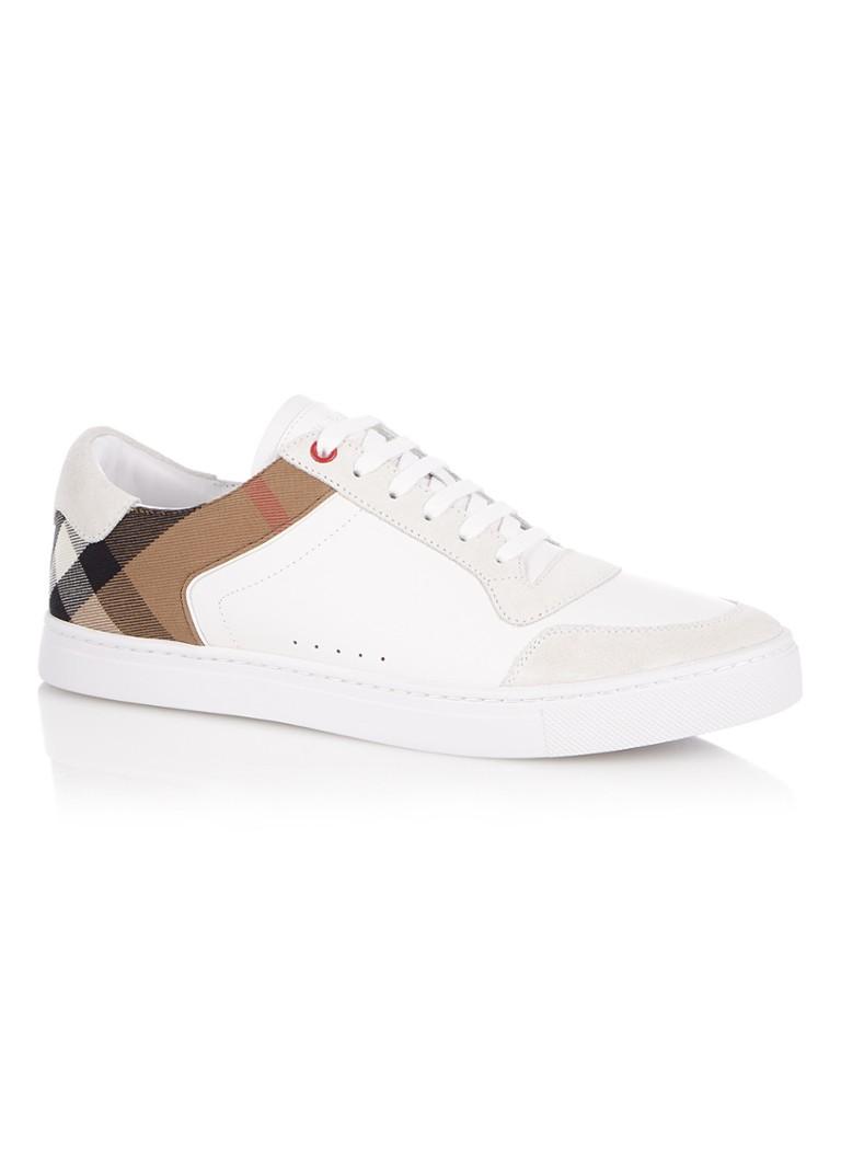 81986e24c5b BURBERRY Reeth sneaker van kalfsleer • de Bijenkorf