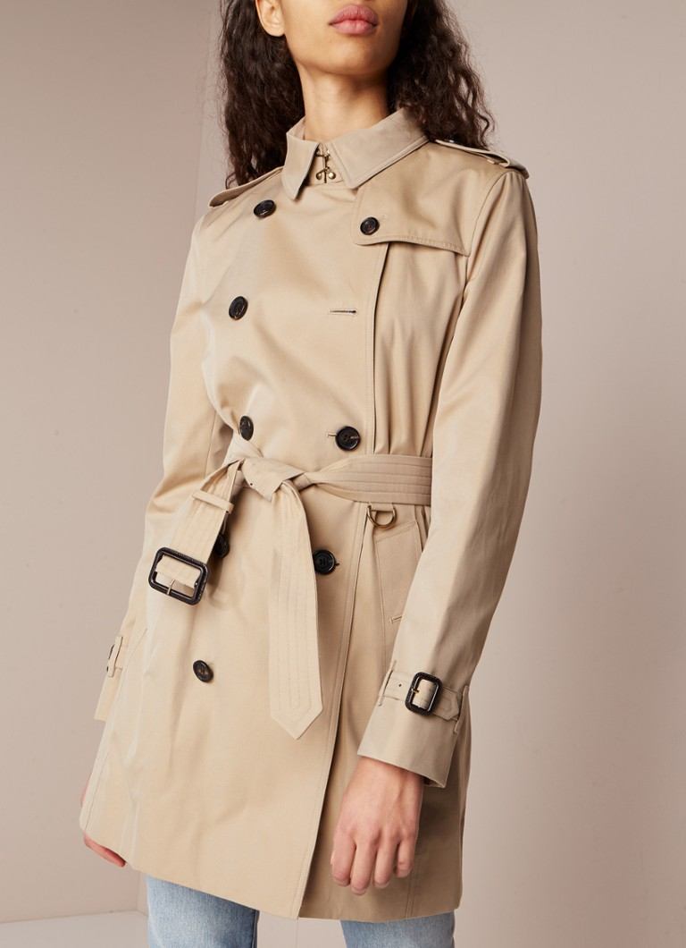 BURBERRY - The Kensington Mid trenchcoat van katoen - Camel