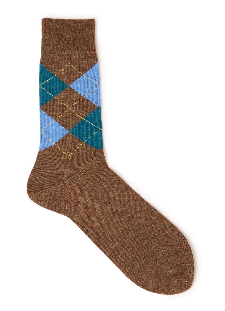 00eef9d2728 Burlington Edinburgh sokken in wolblend met ruitdessin • de Bijenkorf