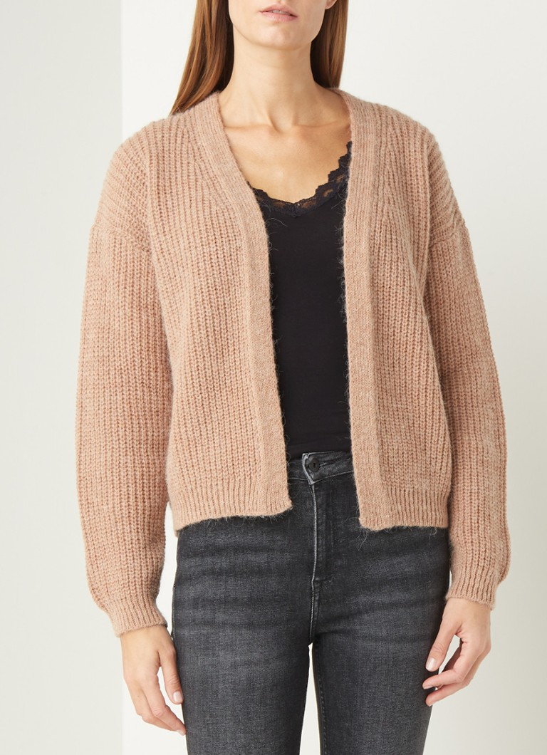 by-bar - Lara Susi grofgebreid vest in alpaca wolblend - Bruin