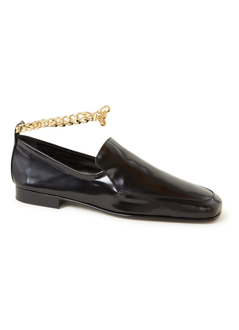 BY FAR - Nick loafer van leer - Zwart