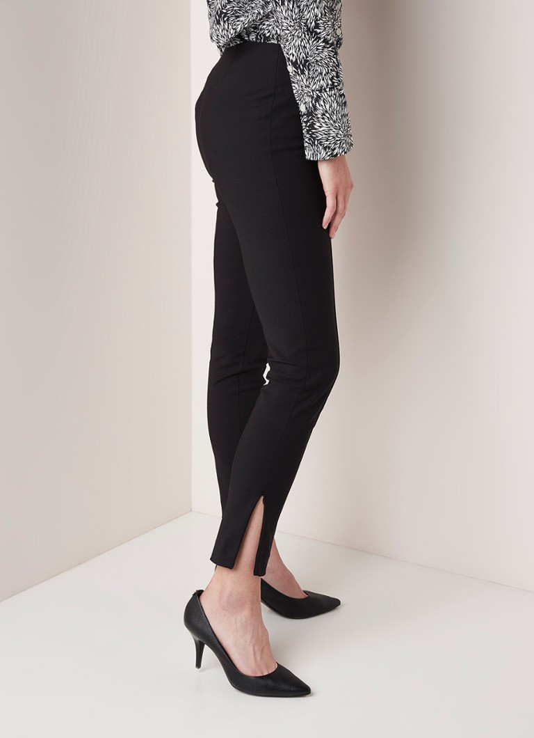 By Malene Birger - By Malene Birger Adelio high waist skinny fit pantalon met siernaad - Zwart