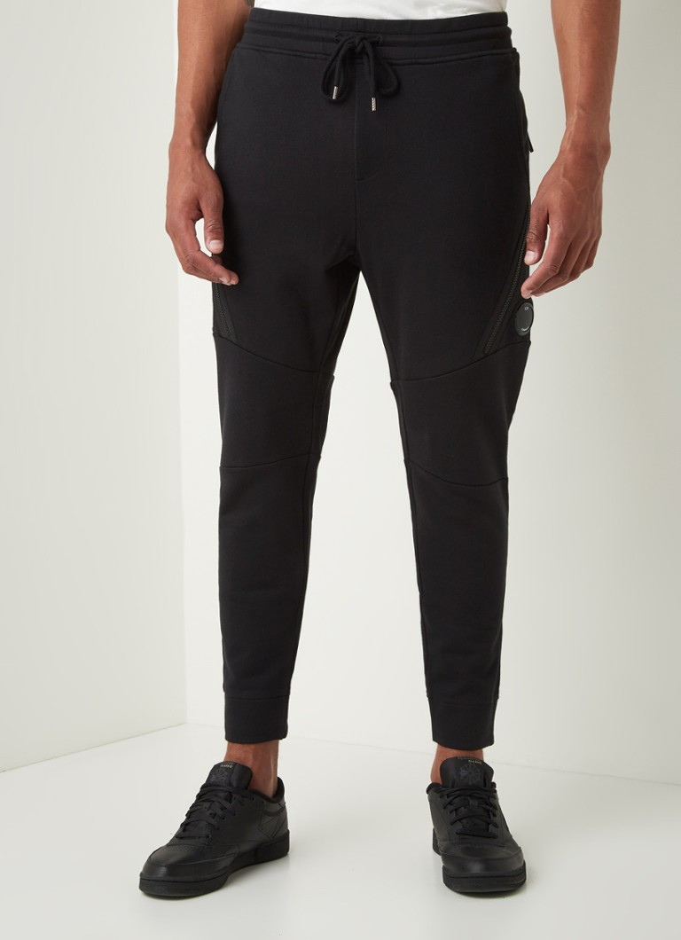 C.P. Company - Tapered fit joggingbroek met ritsdetail - Zwart