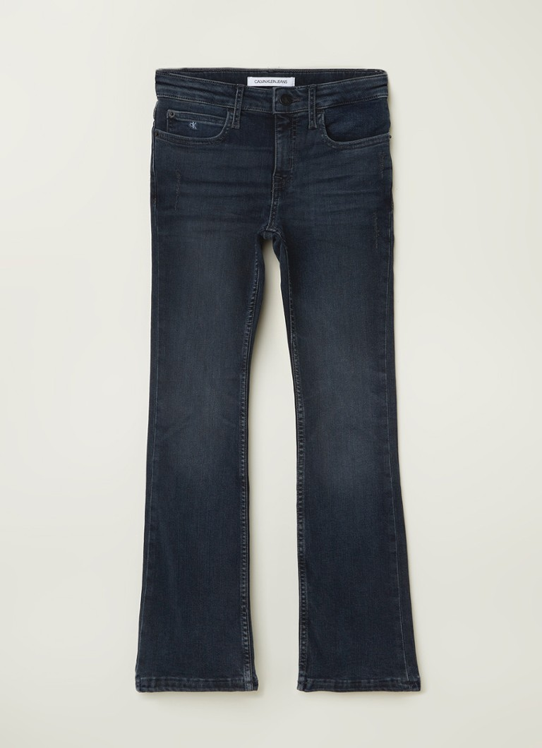Calvin Klein - Flared fit jeans met stretch - Indigo