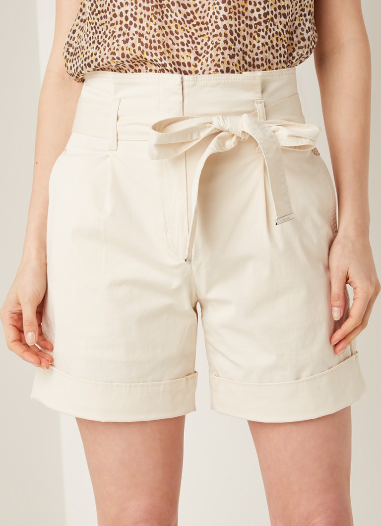 Calvin Klein - High waist loose fit korte broek - Camel
