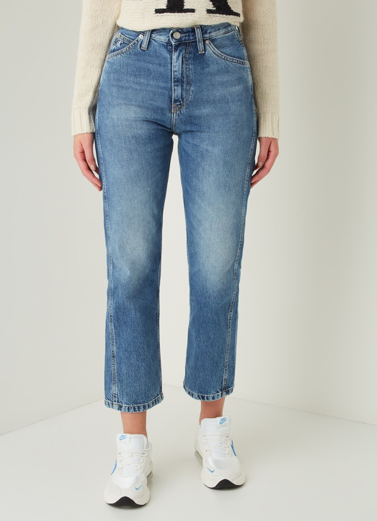 Calvin Klein - High waist straight fit cropped jeans - Indigo