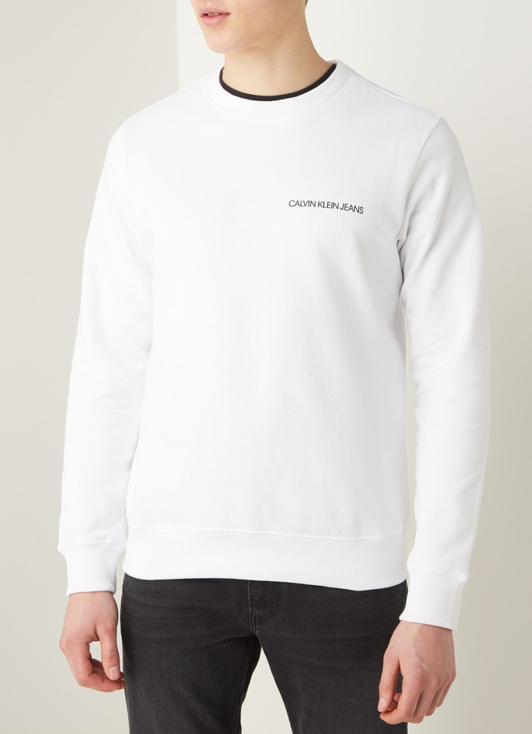 Calvin Klein - Monogram sweater met backprint - Wit
