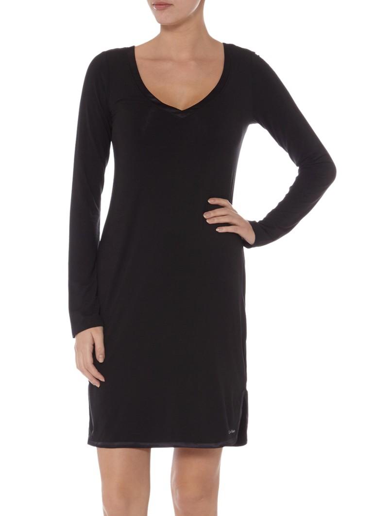 Heiß-Verkauf am neuesten große Auswahl 100% Qualität Calvin Klein Nachthemd met V-hals en satijnen boord