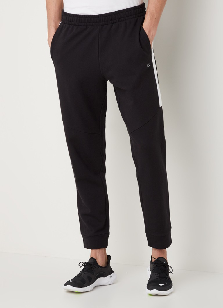 Calvin Klein - Slim fit joggingbroek met logoprint - Zwart