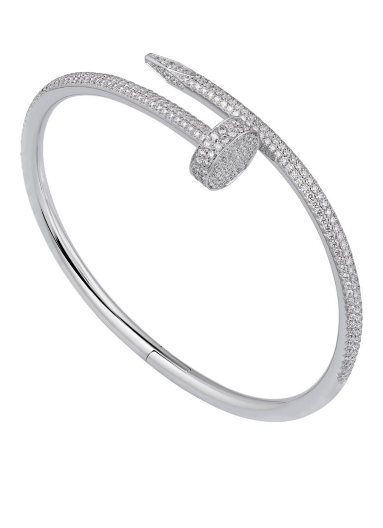 Cartier Juste un Clou small armband van 18k witgoud met diamanten ...