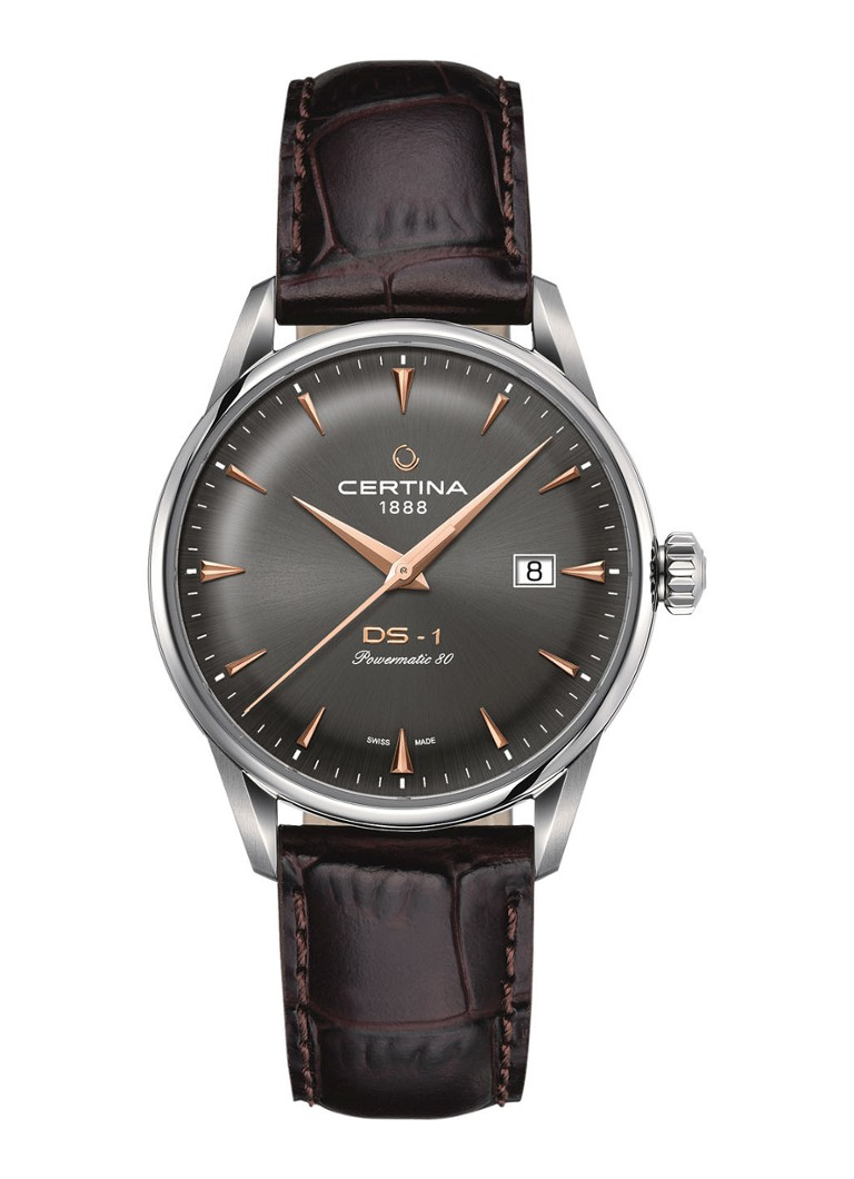 Certina - Certina Horloge DS1 Powermatic80 C0298071608101 - Bruin