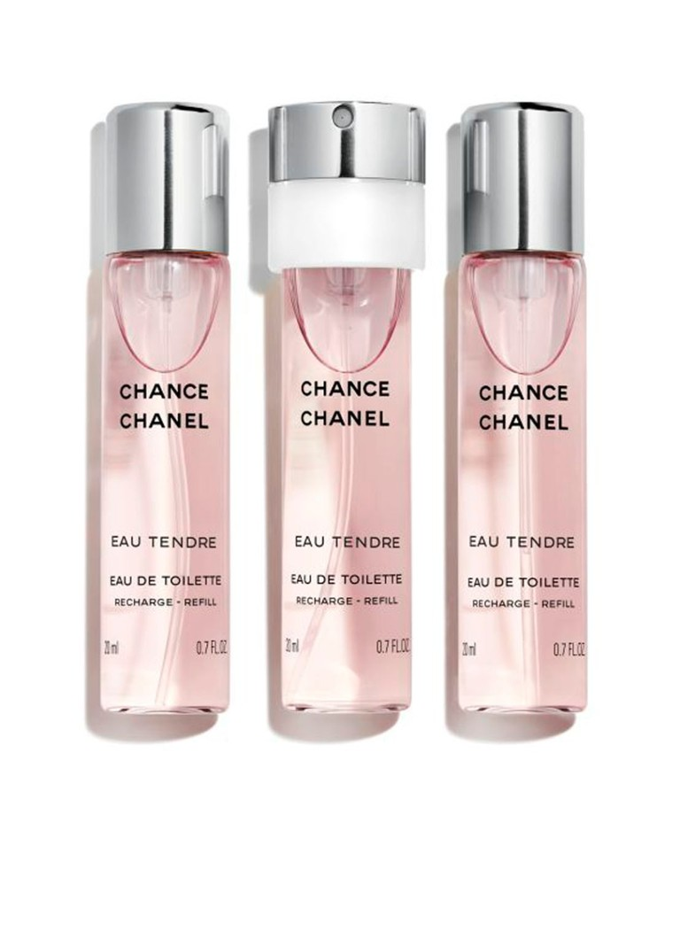 CHANEL - EAU DE TOILETTE TWIST AND SPRAY NAVULLING SET VAN 3 - null