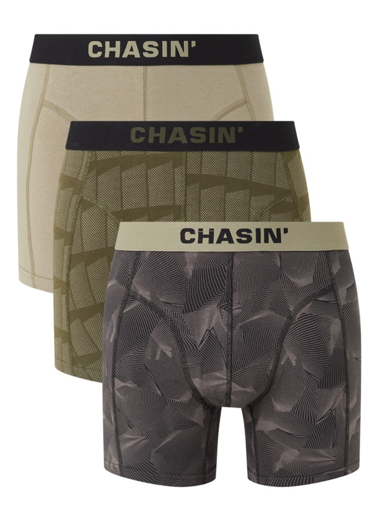 CHASIN' - Thrice Waves boxershorts in 3-pack - Legergroen