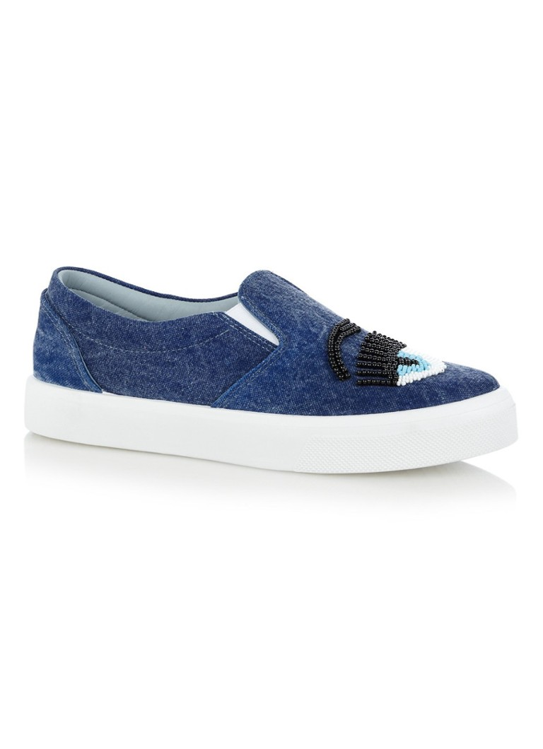 Chiara Ferragni Denim Beads slip-on met kralen