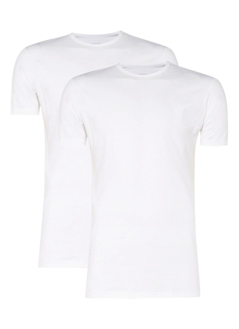 Claesen's - Regular fit T-shirt in 2-pack - Wit