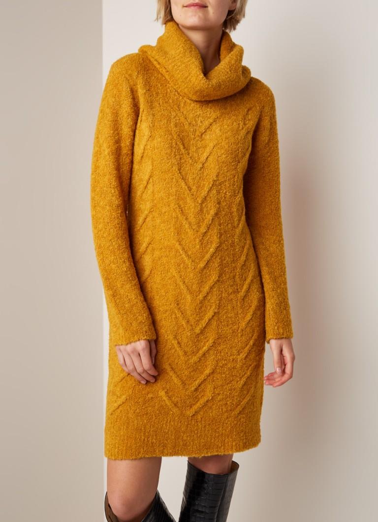 Nieuw Claudia Sträter Grofgebreide midi-jurk met col • Okergeel • de EP-62